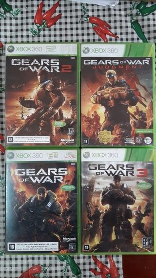 Gears Of War Combo Com Os 4 Jogos De Xbox 360 Originais