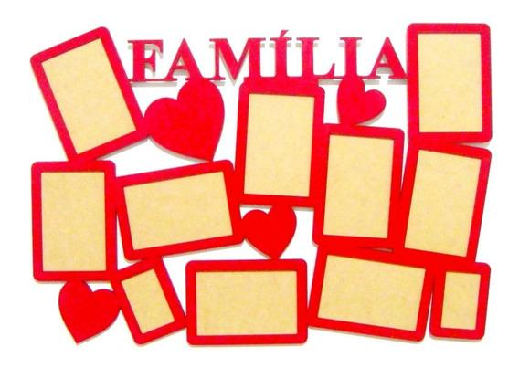 Quadro Painel Família Para 11 Fotos Em Mdf Cores Variadas