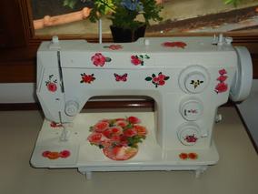 Decoração Cabeçote De Maquina De Costura Pintado Antigo