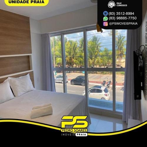 Imagem 1 de 6 de Flat Com 1 Dormitório À Venda, 40 M² Por R$ 499.000 - Tambaú - João Pessoa/pb - Fl0158