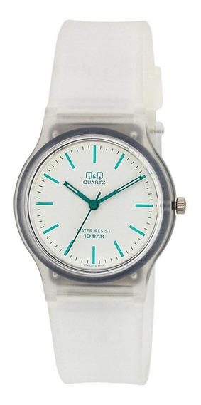 Relógio Infantil Transparente Q&q Silicone Ponteiros + Nf