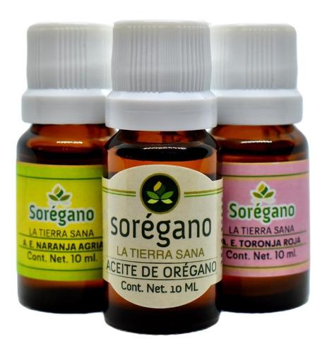 Sorégano|kit Aceite Esencial De Orégano Y 2 Cítricos Yucatán