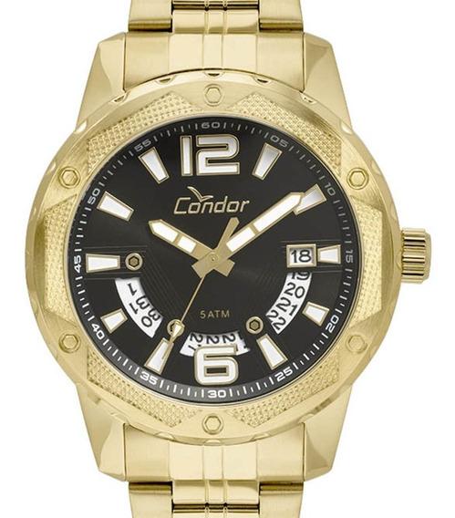Relógio Condor Masculino Original Dourado Co2415bl/4p + Nf-e