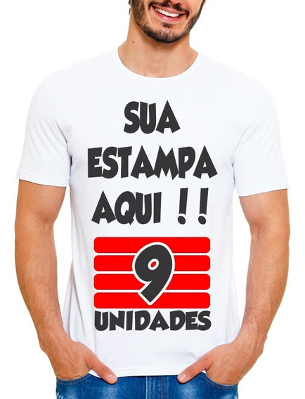 Kit 9 Camisetas Personalizada Com Sua Estampa Foto Imagem Wa
