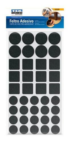 Feltro Adesivo Protetor Pé Mesa Cadeira Tekbond Kit C/40