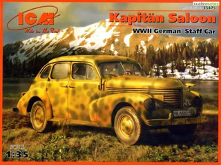 Wwii German Staff Car - Kapitän Saloon Escala 1/35 Icm
