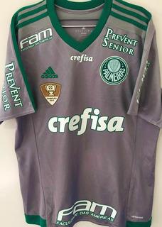 Camisa Palmeiras Usada Jogo Brasileiro 2016 João Pedro #22