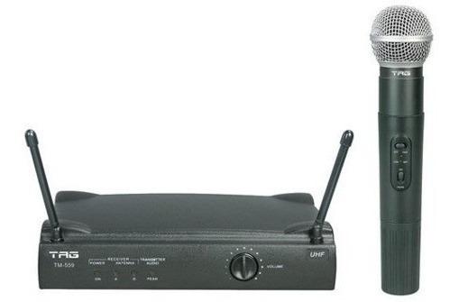 Microfone Sem Fio Uhf Tagima Tag Sound Tm559 + Case