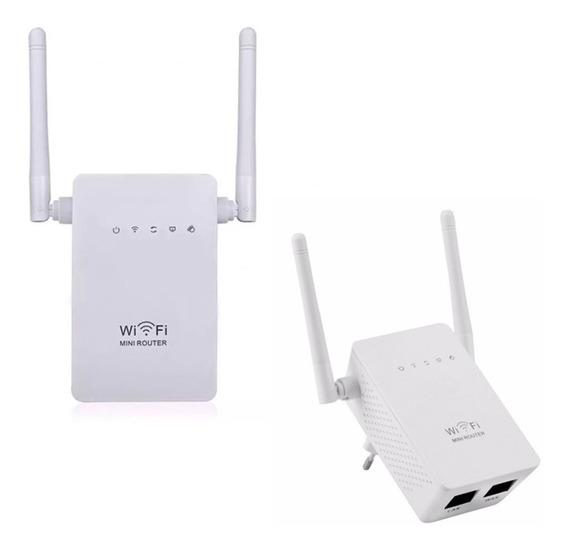 Wifi Repetidor Extensor Wireless 2 Antenas 300mbps Rápido