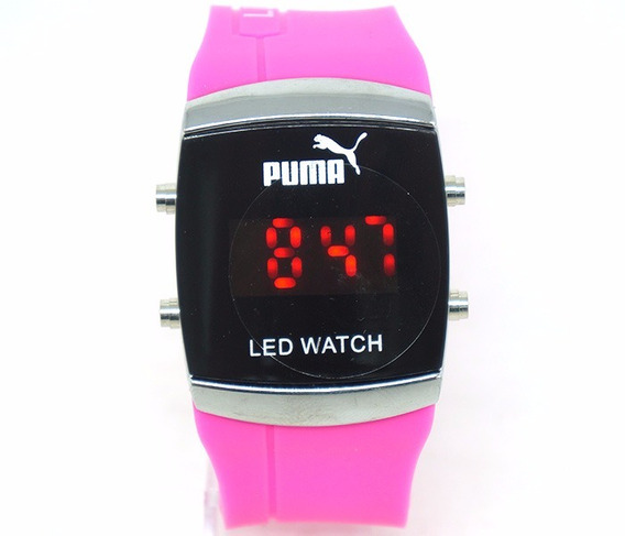 Relógio Puma Led Watch Rosa