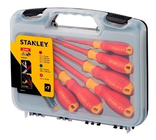 Juego De Destornilladores Aislados 1000v Stanley + Regalo