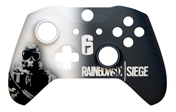 Capa Frente Controle Xbox One S E X Rainbow Six + Chave