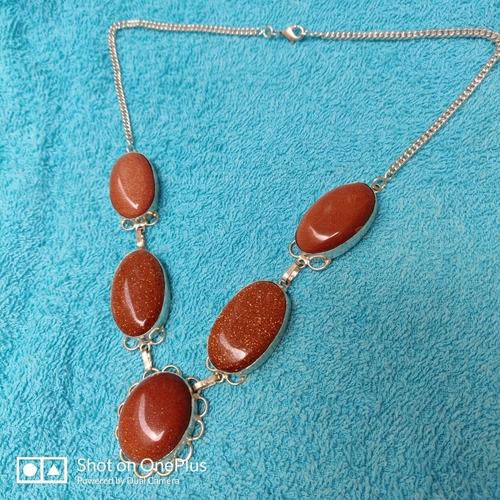 Imagem 1 de 9 de Colar Corrente Prata 925 Feminino Com Pedras Do Sol