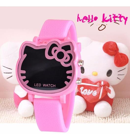 Rel?gio Digital Infantil Led Hello Kitty Vermelho Melancia