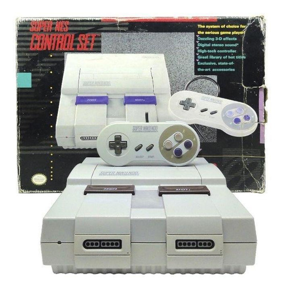 Console Super Nintendo Control Set Snes Pronta Entrega