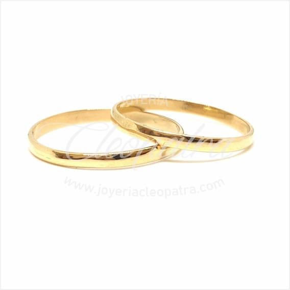 Alianzas Oro 18k 2gr Compromiso Casamiento Media Caña Cuotas