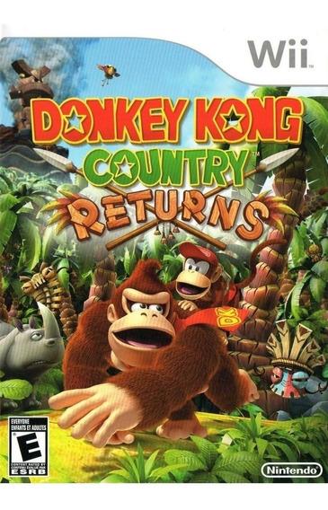 Wii - Donkey Kong Country Returns - Novo E Lacrado