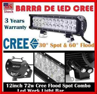 Barra Led 12 72w 4x4 Faro Moto Lancha Jeep Cuatrimoto Atv