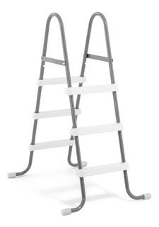 Escalera Hogar De Acero Para Piscina 91 Cm 3 Escalones Intex