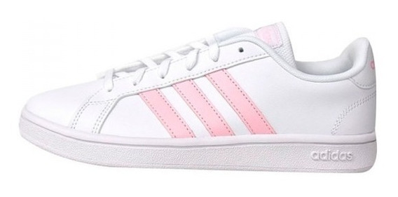 Tenis adidas Grand Court Base Blanco/rosa Ee7480