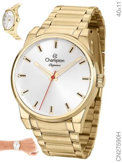 Relógio Champion Original Cn27590h Com Kit