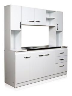 Conjunto Cocina Ricchezze Arco 189x180x52 7ptas/3caj C/blanc