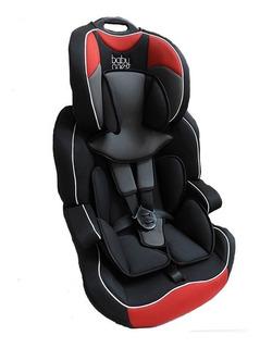 Baby One Booster C/ Respaldo Y Cinturon Negro C/rojo Lb-517a