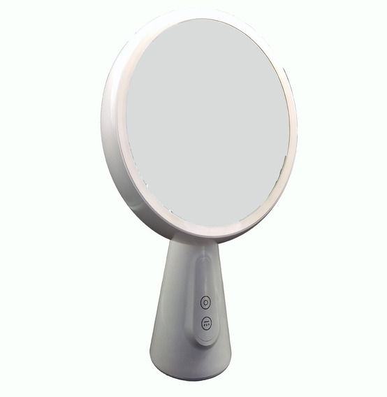 Espelho De Mesa 70 Graus De Rotação Com Luminária Maquiagem