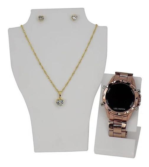 Relógio Feminino Led Original Barato
