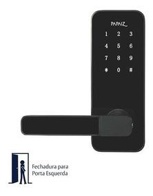 Fechadura Eletrônica Papaiz Digital Smart Lock Preta