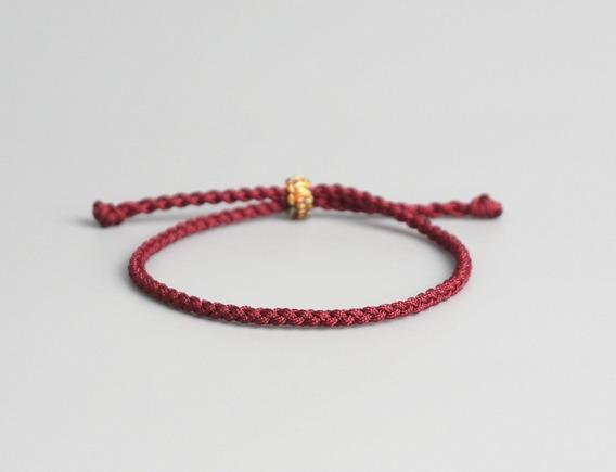 Pulseiras Budista Tibetano Unissex (fina) - Sorte E Proteção