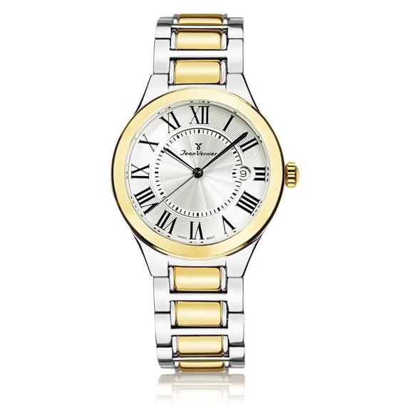 Relógio Jean Vernier Feminino Ref: Jv1159 Fashion Bicolor