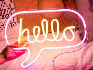 Decoracion Neon Hola Hello Lampara De Noche