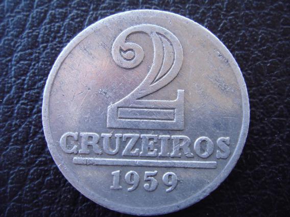 Brasil - Moneda De 2 Cruceiros, Año 1959 - Muy Bueno
