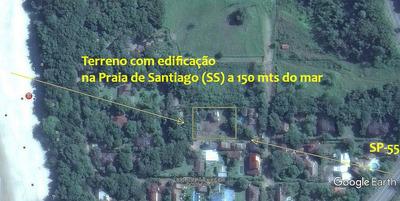 Terreno Com Edificação Na Praia De Santiago Em Maresias (ss)