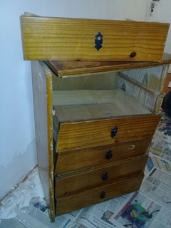Mueble Madera 5 Cajones 55 X 40 X 80 Cms