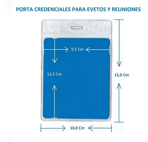 Funda Transparente Porta Credenciales 10 X 15 Cm 5 Unidades