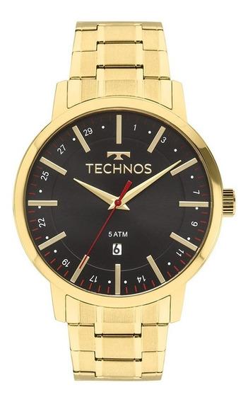 Relógio Masculino Dourado Technos Classic 2115mmk/4p Steel.