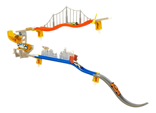 Hot Wheels Wall Tracks Downhill Flip Drop Pista De Juguete