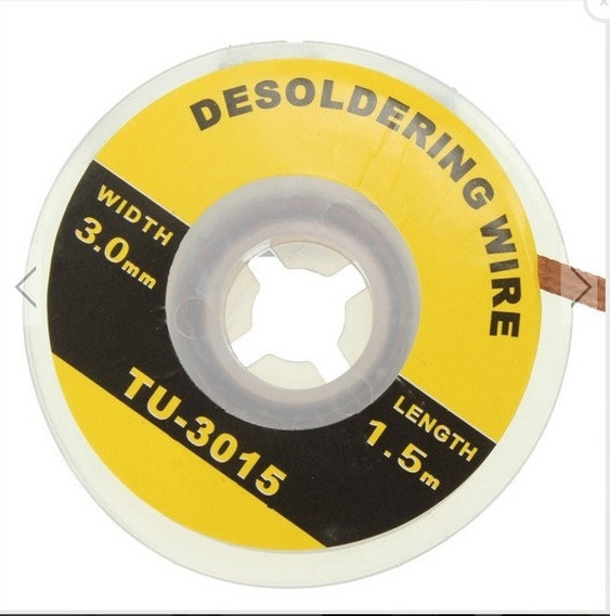 Fita Dessoldadora Malha Dessoldadora - 1,5m 3mm