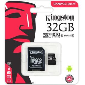 Sd Kingston Class 10uhsi 32gb Micro+adaptador Sdcs32gb