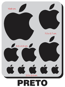 2 Kits / 20 Adesivos Apple iPhone Carro Moto Celular