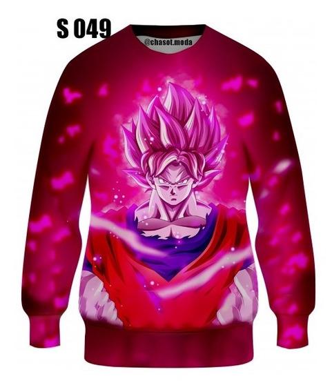 Suéter Sweater Jersey Franela De Goku Dragon Ball Sublimadas