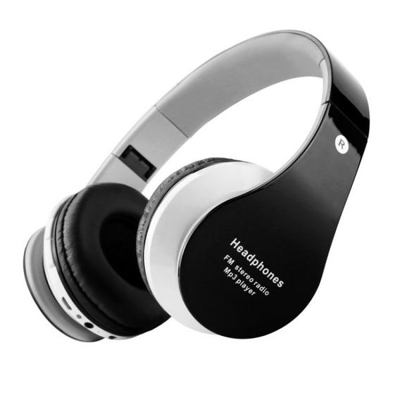 Fone De Ouvido Sem Fio Bluetooth Fm Sd - B01-preto