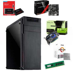 Pc Gamer Montado Gabinete+fonte Ssd120g Memoria Ddr3 4g