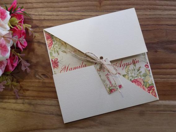 Invitaciones Casamiento Vintage Souvenirs Cotillón Y