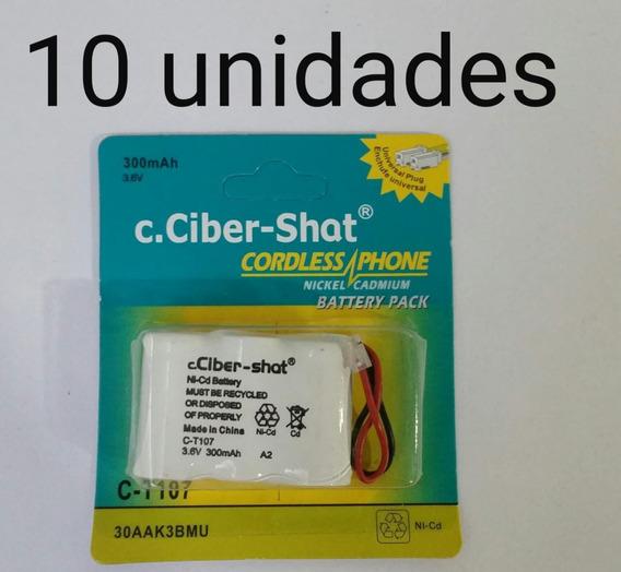 10 Bateria Para Telefone S Fio C.ciber-shat T107 3.6 V 300m
