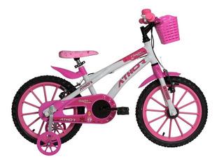 Bicicleta Athor Baby Lux Princess Infantil Aro 16 Feminina