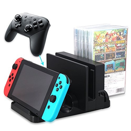 Nintendo Switch Charging Station With Storage For 6 Pcs Game