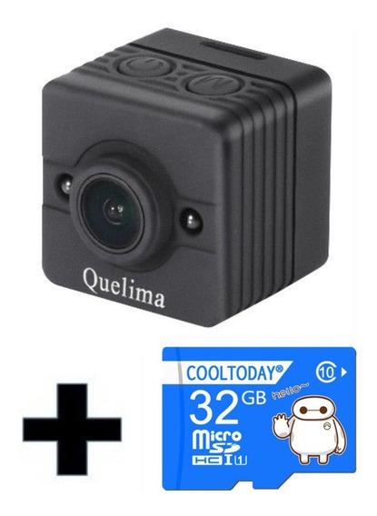 Mini Camera Espia Filmadora Sq12 1080p Full Hd + Cartao 32gb